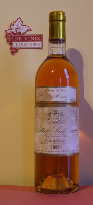 photo Chateau Suduiraut Sauternes Cuvee Madame